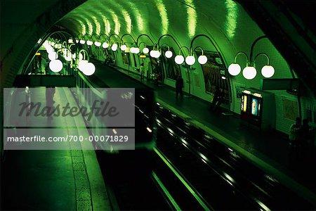 Interior of The Metro Paris, France