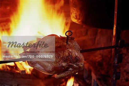 Chicken Roasting on Spit