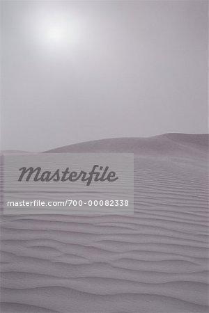 Dunes de sable et de la tempête de sable White Sands National Monument New Mexico, USA