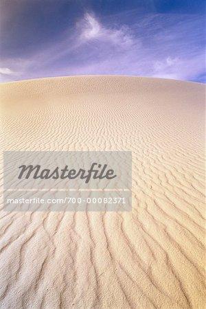 Les Dunes de sable de sable blanc National Monument au Nouveau-Mexique, USA