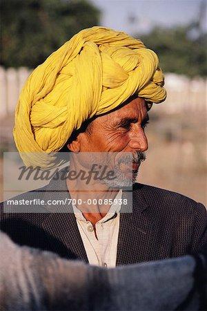 Mature Man Outdoors Rajasthan, India