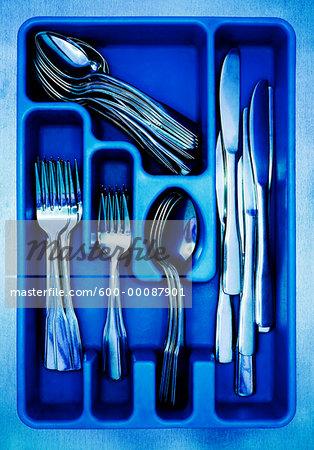 Cutlery in Tray