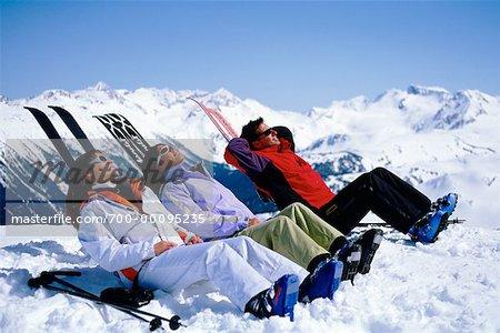 Skieurs bronzage Whistler, Colombie-Britannique Canada