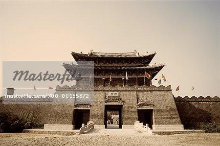 Ancienne ville de Jing Bian, Chine