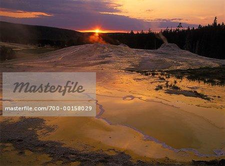 Upper Geyser Basin Parc National de Yellowstone, Wyoming, États-Unis
