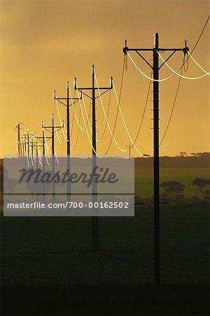 Australie de lignes électriques