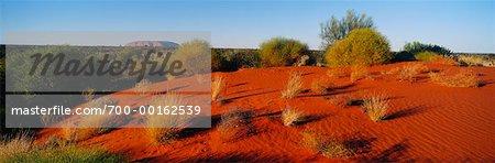 Dune et Ayers Rock territoire du Nord, Australie