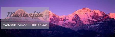 L'Eiger, Munch et Jungfrau Suisse