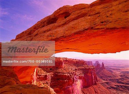 Mesa Arch au Sunrise Canyonlands National Park, Utah, USA