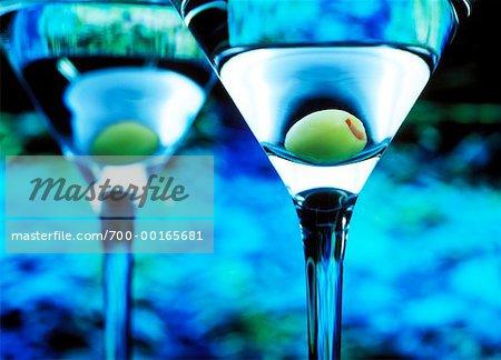Gros plan de Martini avec Olive