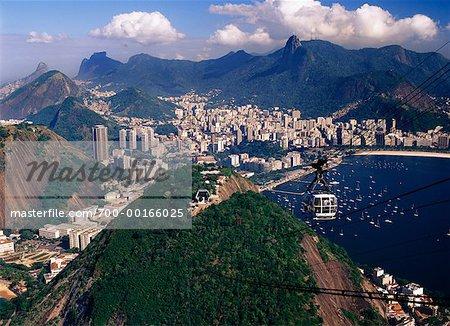 Seilbahn und Sugar Loaf Mountain Rio De Janeiro, Brasilien