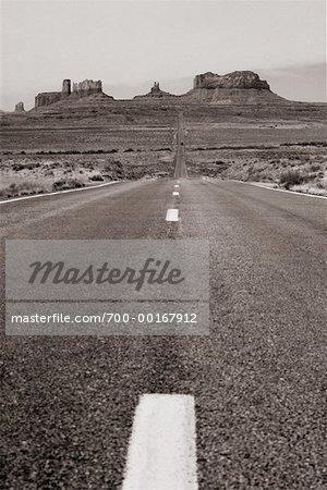 Route de Monument Valley, Arizona, Utah