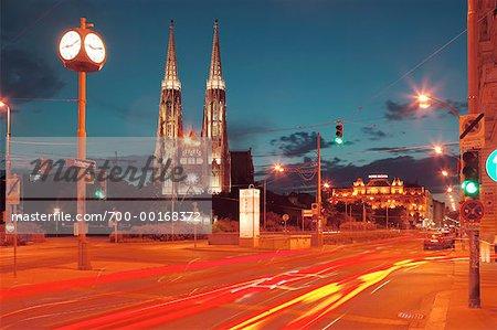 Votivkirche et ville rue Vienne, Autriche