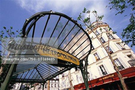 Abbesses Art Nouveau Subway Montmartre, Paris, France