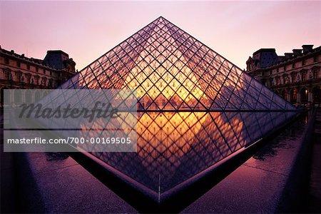 The Louvre at Sunset Paris, France