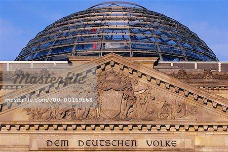 Dôme de Sir Norman Foster au Reichstag, Berlin, Allemagne