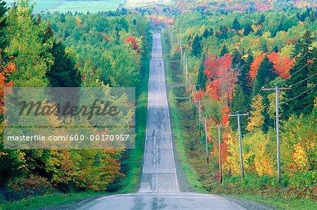 Rural Road, Quebec, Canada