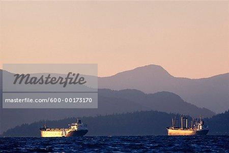 Ships, Vancouver, British Columbia, Canada