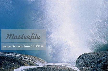 Vagues sur la côte Atlantique, Hondeklipbaai, Province du Cap, Afrique du Sud