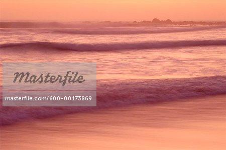 Coucher de soleil de l'Atlantique, Namaqualand, Afrique du Sud