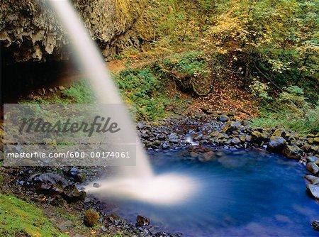 Upper prêle Falls, Columbia River Gorge, Oregon, Etats-Unis