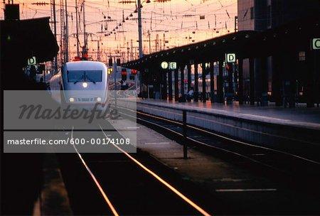 Inter City Express (ICE), gare de Munich, Allemagne