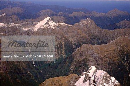 Chutes de Sutherland, Alpes du Sud, Parc National de Fjordland, Ile du Sud, Nouvelle-Zélande