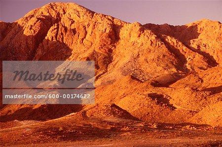 Montagnes au coucher du soleil, du Richtersveld Sud, en Afrique du Sud