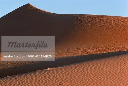 Dunes rouges près du Kalahari, Namaqualand, Afrique du Sud