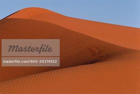 Dunes rouges près du Kalahari, Gemsbok National Park, Afrique du Sud