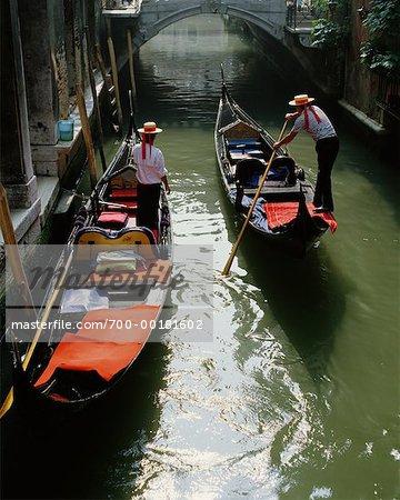 Gondoles, Venise, Italie