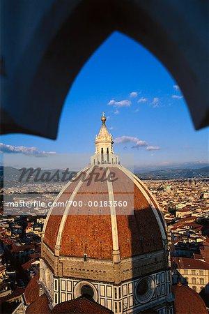 Duomo et la vue sur Florence, Florence, Italie