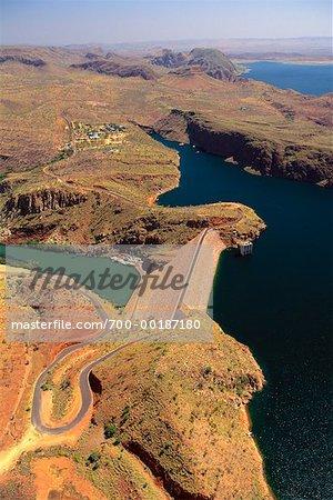 Lac Argyle et Ord River Dam Kununurra Australie occidentale Australie