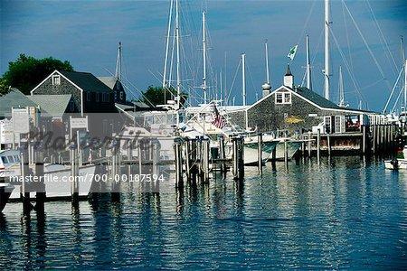 Overview of Harbour Nantucket Harbour, Nantucket Massachusetts, USA