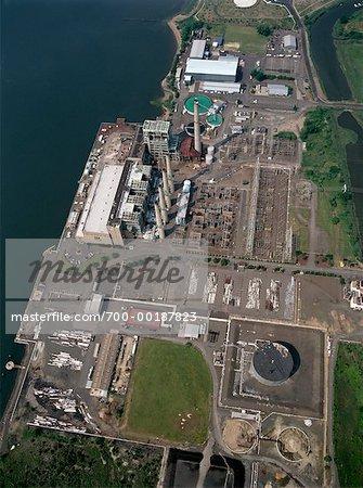Générateurs électriques gare Bayonne, New Jersey, Etats-Unis