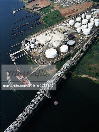 Tanker at Loading Dock Bayonne, New Jersey, USA