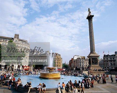 Trafalgar Square Westminster London, England