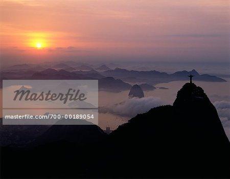 Berg Corcovado und Zuckerhut Rio De Janeiro, Brasilien
