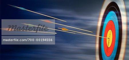 Arrows Flying Towards Target