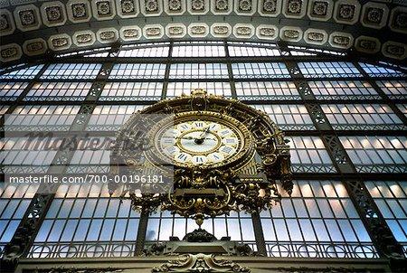 Clock at Musee d'Orsay Paris, France