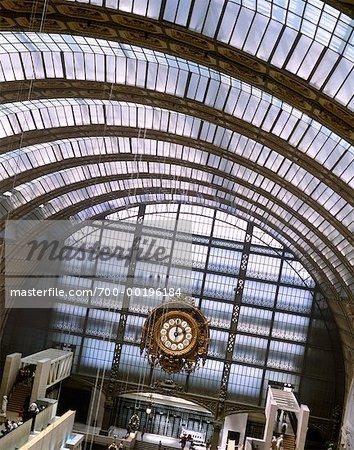 Toit et fenêtres Musee d'Orsay Paris, France