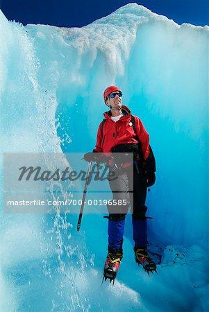 Glace escalade Mendenhall Glacier Alaska, USA