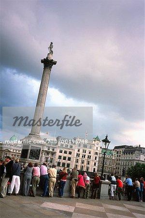 People at Trafalgar Square London, England