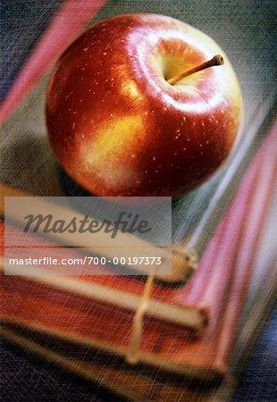 Pomme sur l'Old School Books