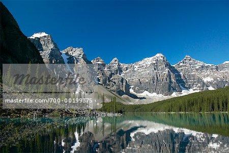 Moraine Lake and Wenkchemna Range Banff National Park Alberta, Canada