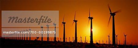 Wind Turbines Tehachapi, Californie, États-Unis
