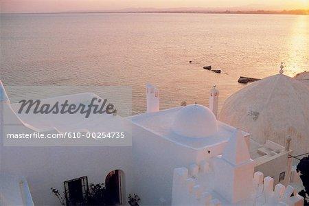 Coucher du soleil de Tunisie, Hammamet,