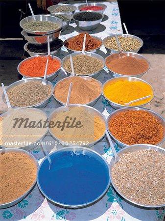 Egypt, Aswan, spice market