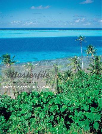 Polynésie française, îles de la société, l'île de Bora Bora, lagon