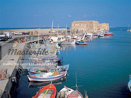 Grèce, Crète, le port d'Héraklion
